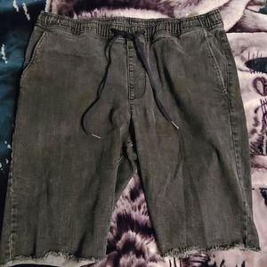 RUDE denim drawstring shorts